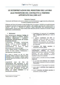 Articolo: Le interpretazioni del Ministero del Lavoro al contratto a termine dopo il Jobs Act